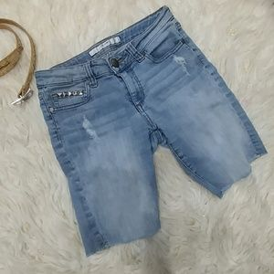 Joe's Jeans STUDDED Distressed jean shorts